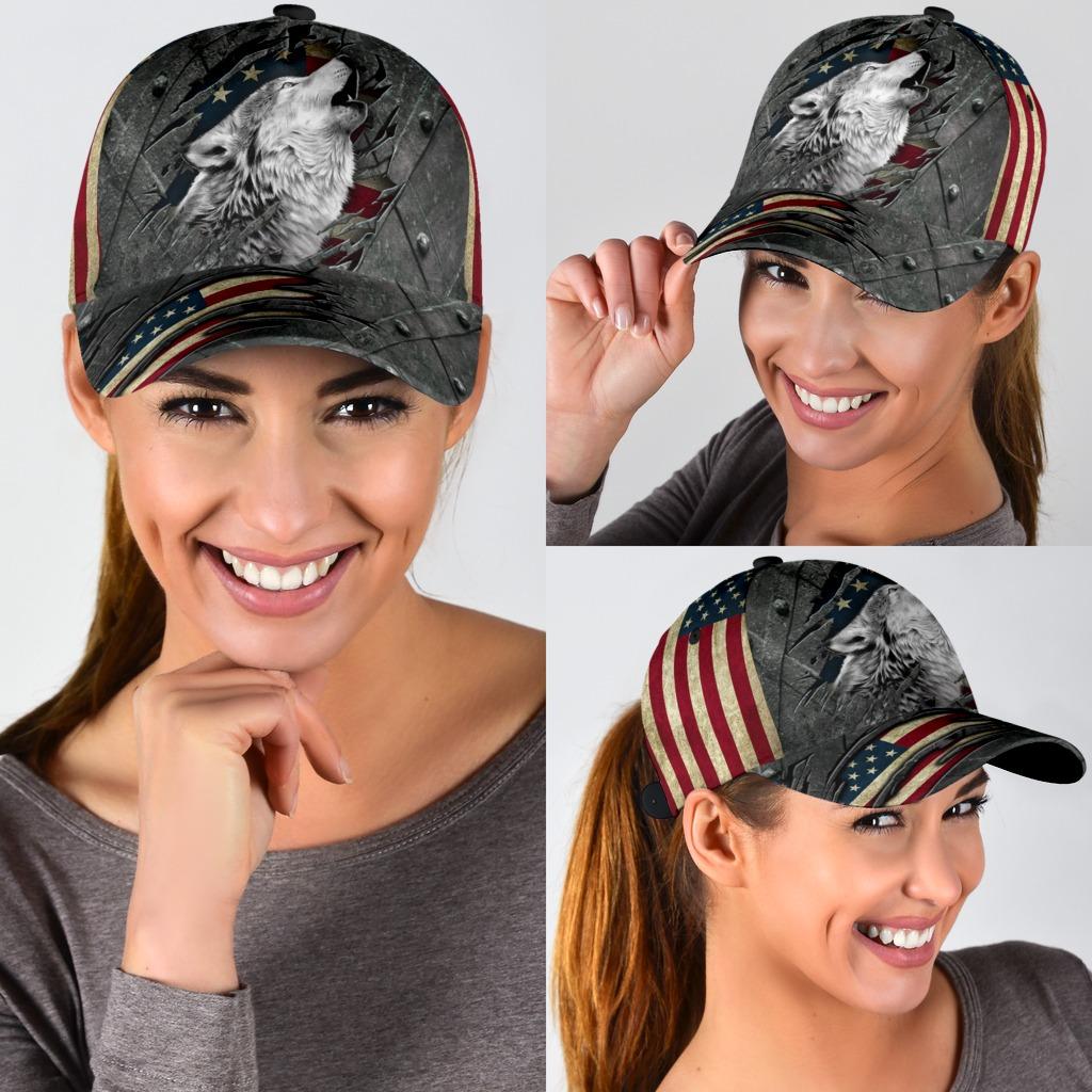 Wofl American flag classic cap3