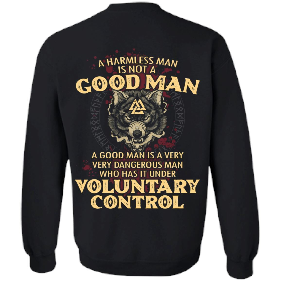 viking norse gym t shirt apparel a harmless man is not a good man backapparel heathen by nature authentic viking products unisex crewneck pullover sweatshirtblacks 978109 1024x1024@2x