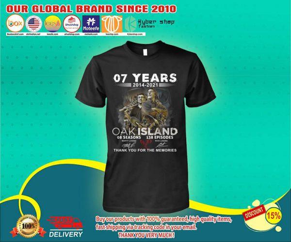 07 years 2014 2021 OAK island 08 seasons thank you for memories shirt 1