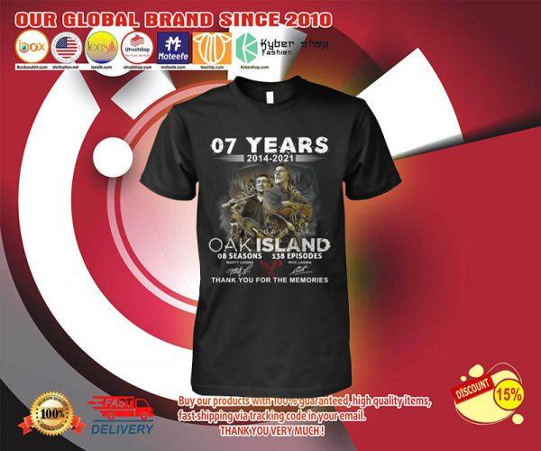 07 years 2014 2021 OAK island 08 seasons thank you for memories shirt 2