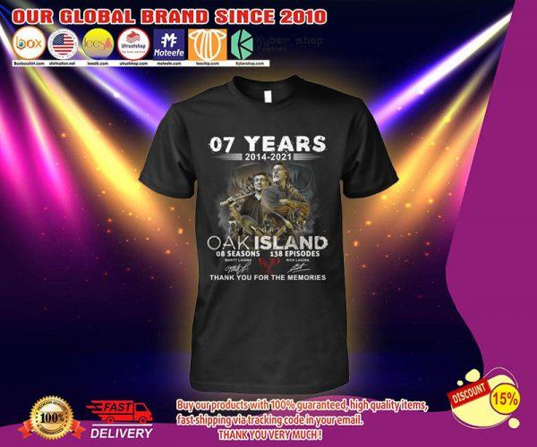07 years 2014 2021 OAK island 08 seasons thank you for memories shirt 3