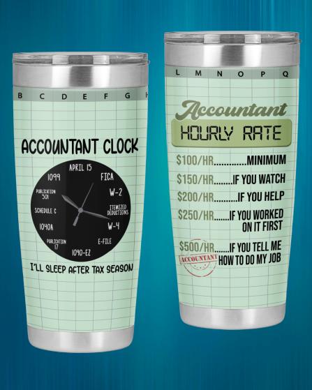 Accountant Hourly Rate Accountant Clock Tumbler3