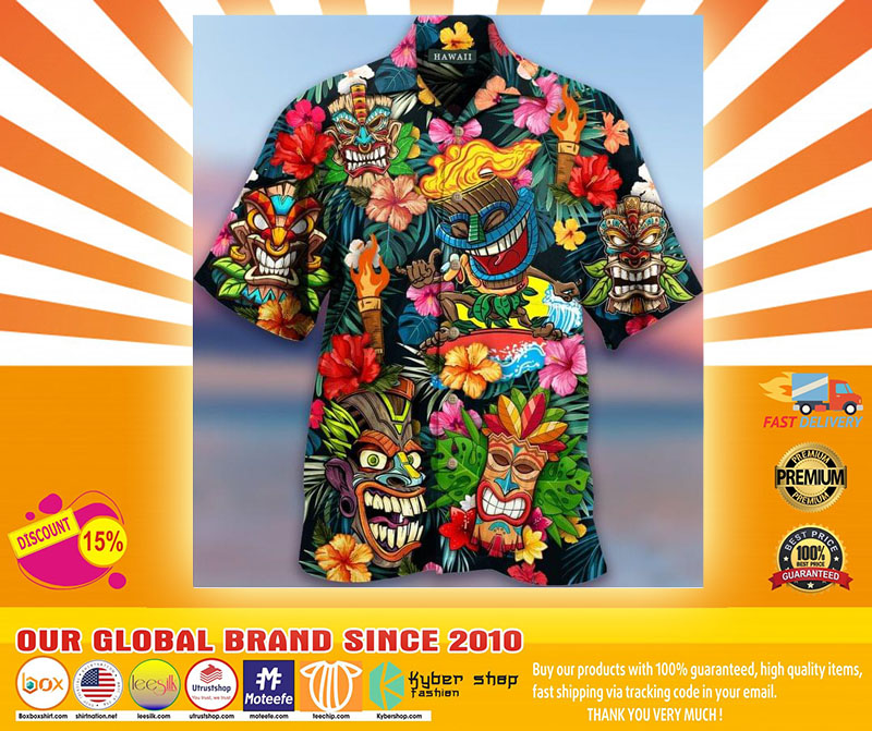 Aloha Tiki Tiki Awesome Unisex Hawaiian Shirt4