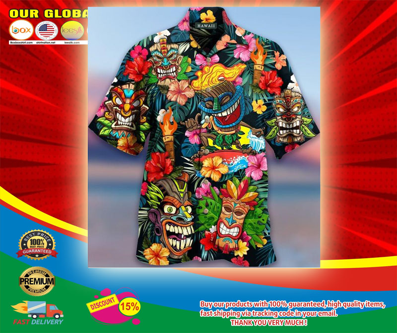 Aloha Tiki Tiki Awesome Unisex Hawaiian Shirt5