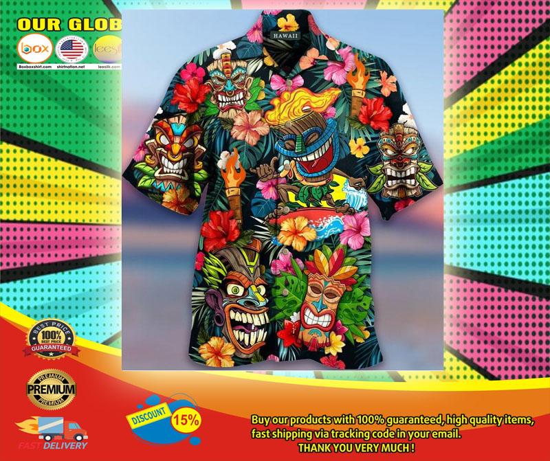 Aloha Tiki Tiki Awesome Unisex Hawaiian Shirt6