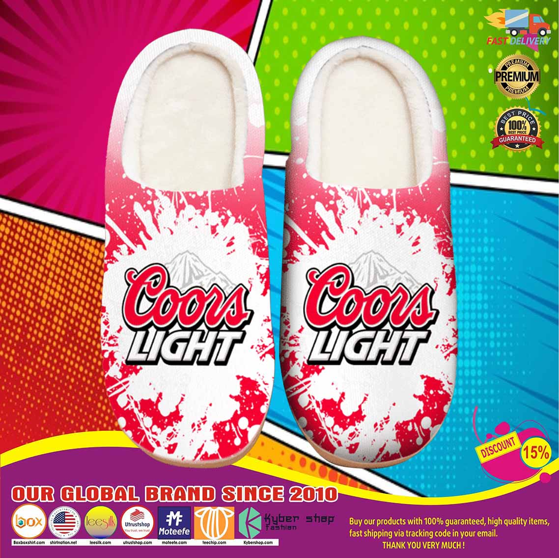Amazon Coors Light Beer Shoes Slippers 9