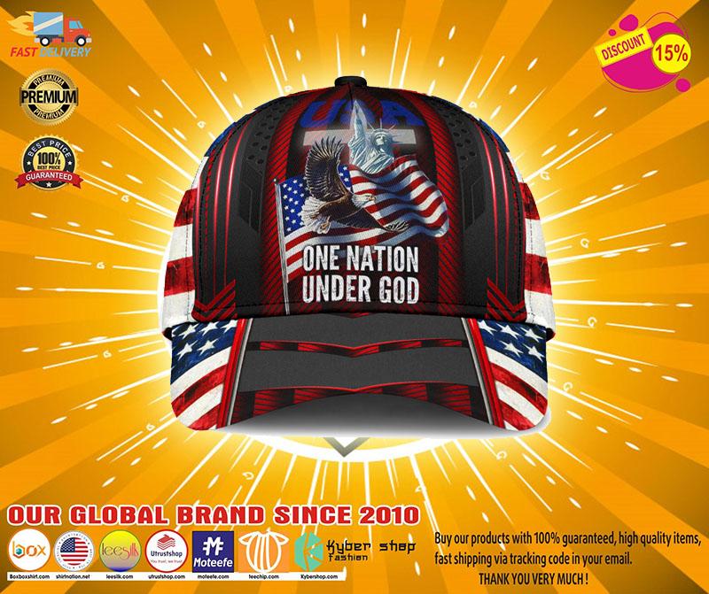 American flag Eagle one nation under god cap3