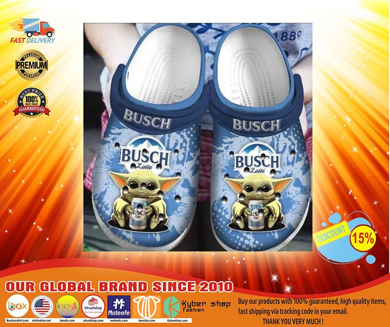 Baby Yoda Hug Busch Latte Crocband Crocs Clog Shoes3