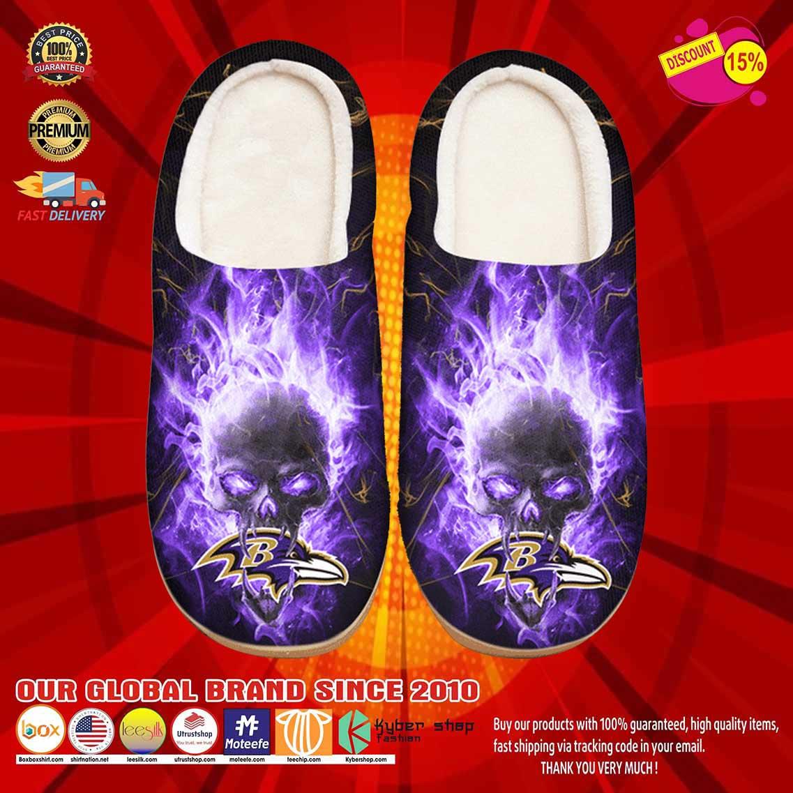Baltimore Ravens Custom Shoes Slippers 10