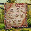 Baseball Pitching Grips Quilt Blanket 1