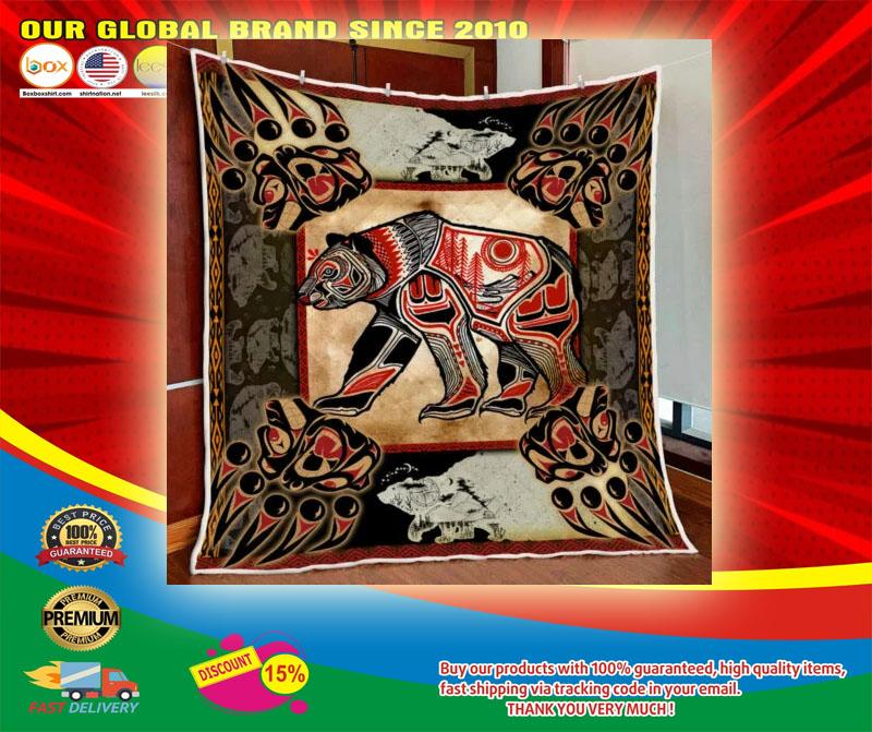 Bear native tattoo blanket6