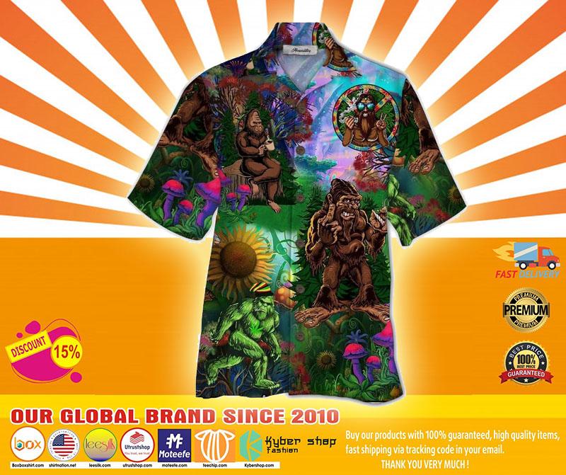 Bigfoot hippie hawaiian shirt4