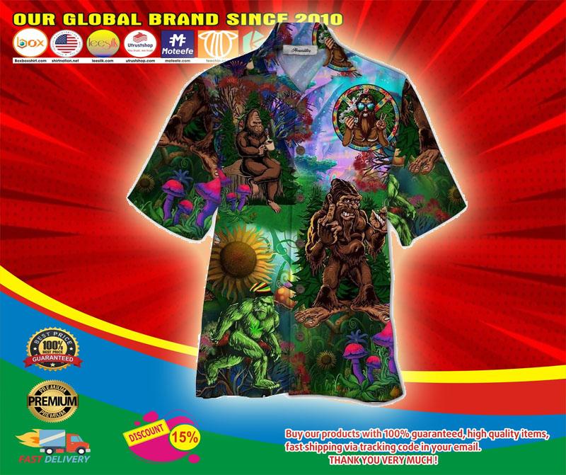 Bigfoot hippie hawaiian shirt5