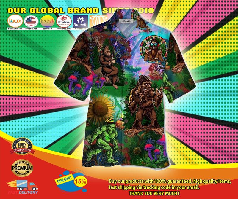Bigfoot hippie hawaiian shirt6