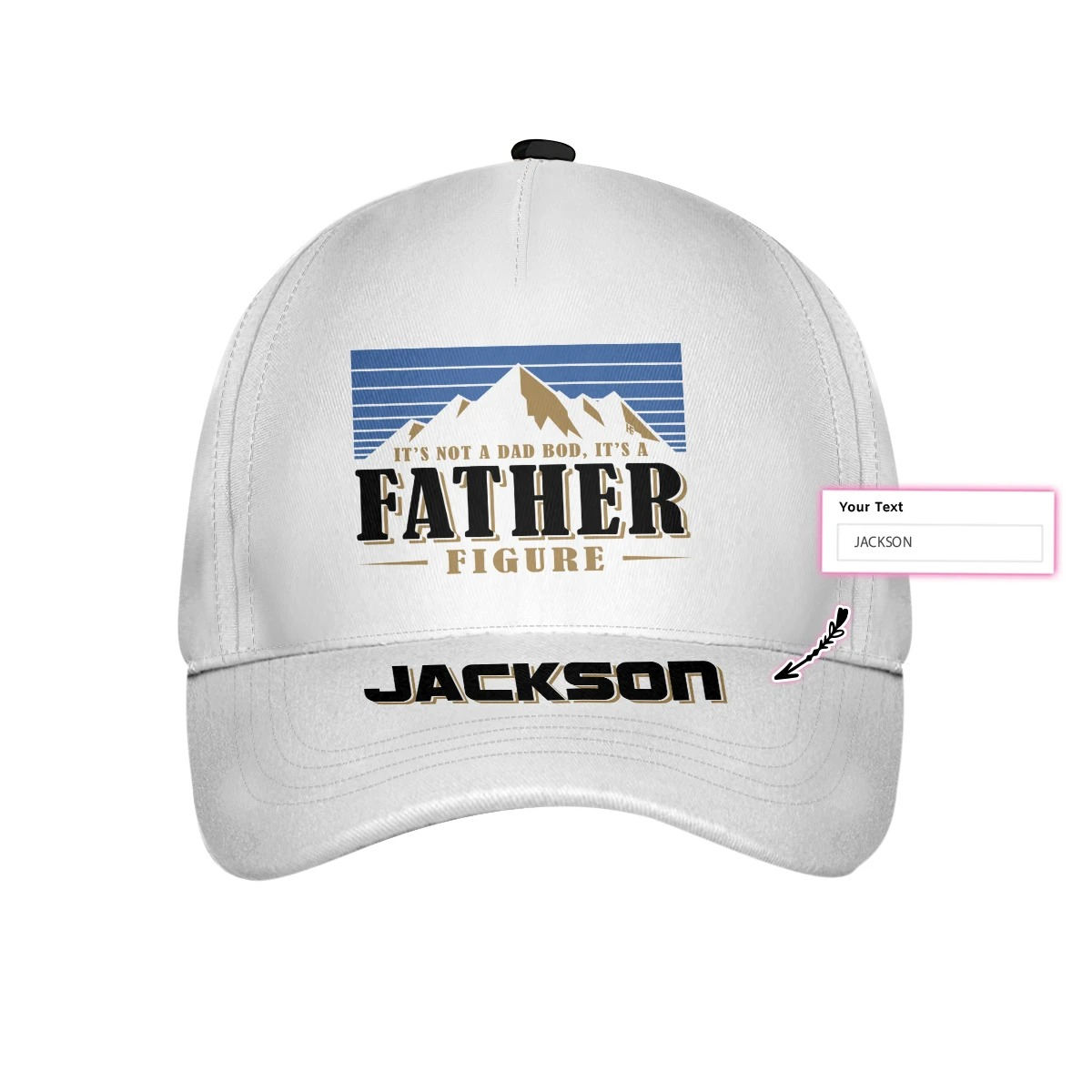 Busch light Its not a dad nod its Father figure custom name cap