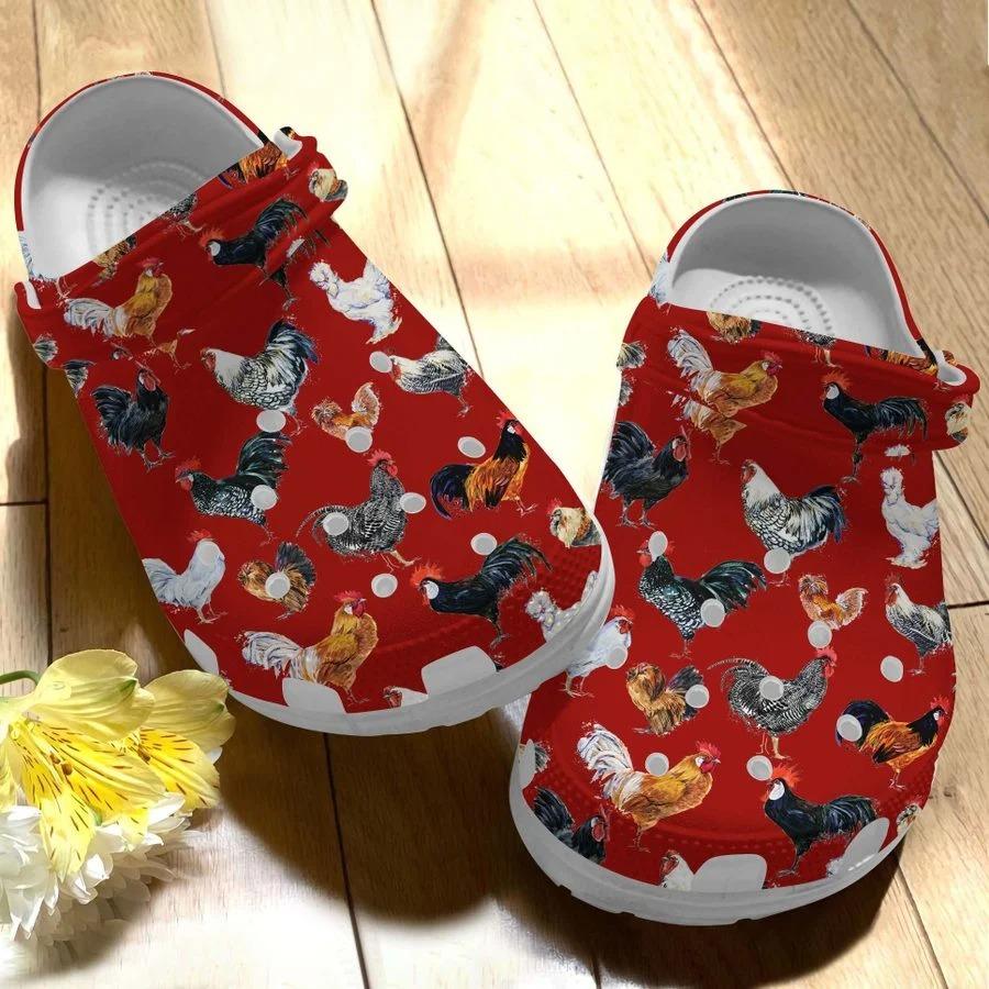 Chicken crocs crocband clog4
