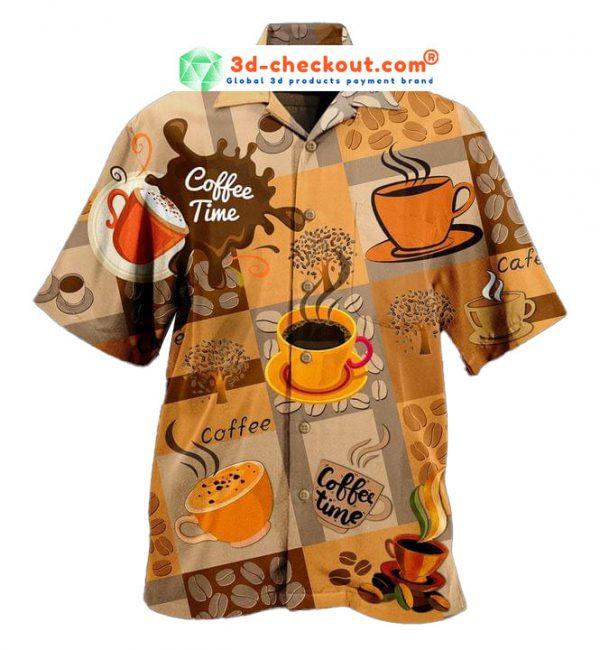 Coffee Makes Life Better Hawaiian Shirt