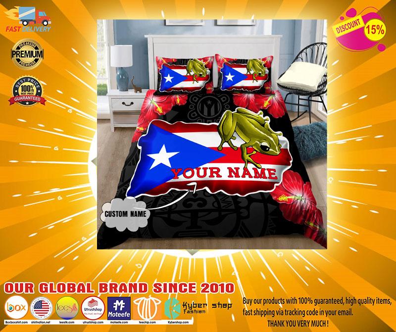 Coqui and love puerto rico custom name bedding set4