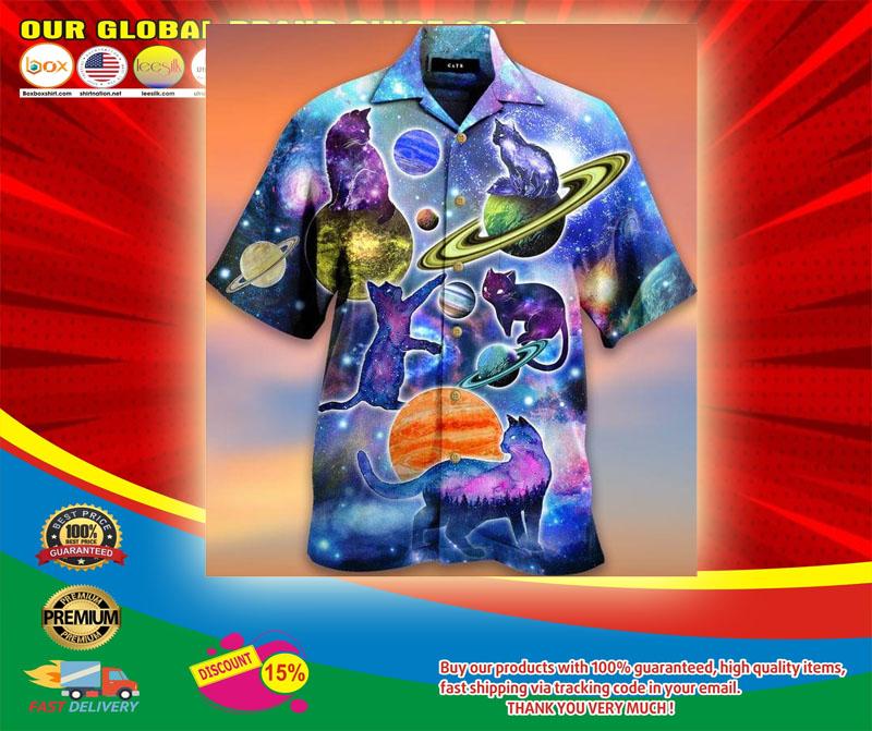 Cosmic Cats Galaxy Fun Hawaiian Shirt5