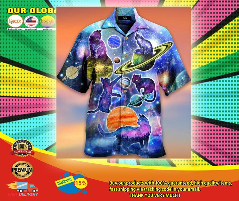 Cosmic Cats Galaxy Fun Hawaiian Shirt6