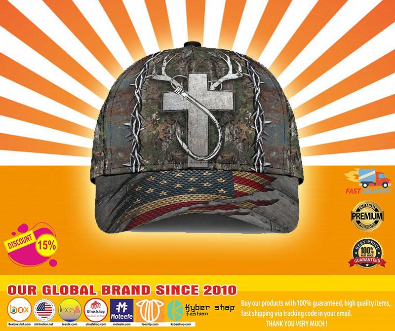 Cross American flag christian hunting fishing cap4