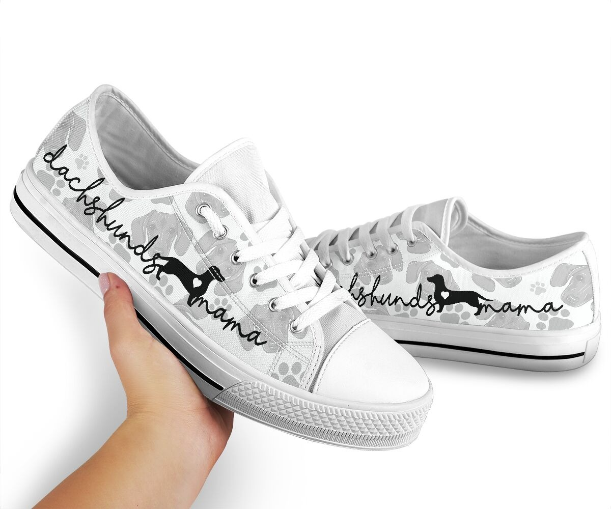 Dachshund lovers mama low top shoes sneaker2 1