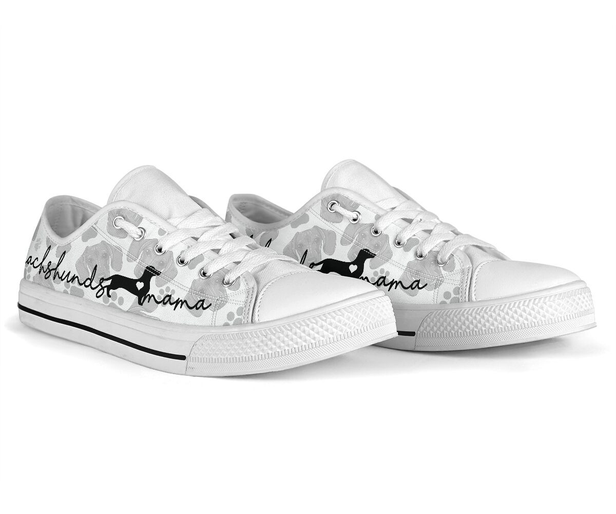 Dachshund lovers mama low top shoes sneaker4 1