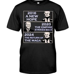 Donald Trump 2016 A New Hope Biden 2020 The Empire Strickes Back Donald Trump 2024 The Return Of The Maga Shirt 1