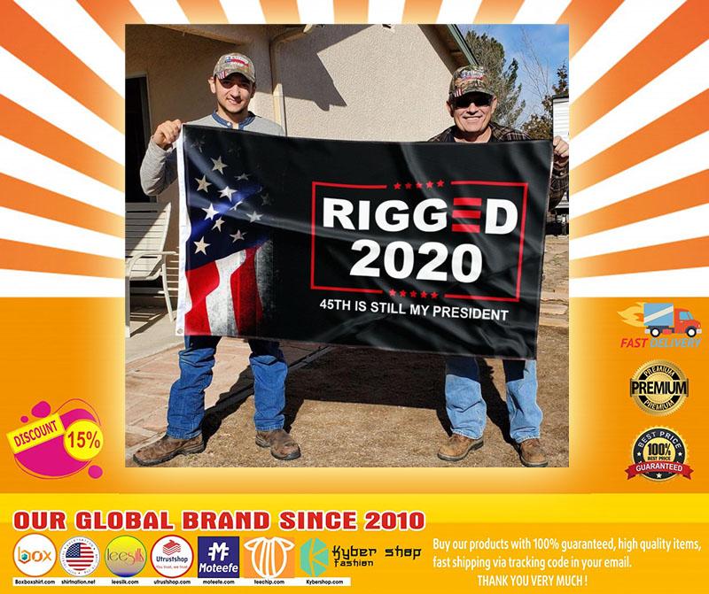 Donald Trump Rigger 2020 45th is still my president flag4