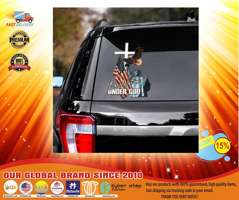 Eagle American flag one nation under god car decal3 1