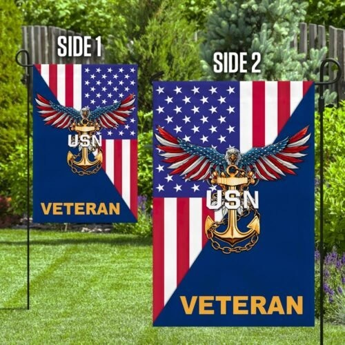 Eagle United states Navy veteran American flag2