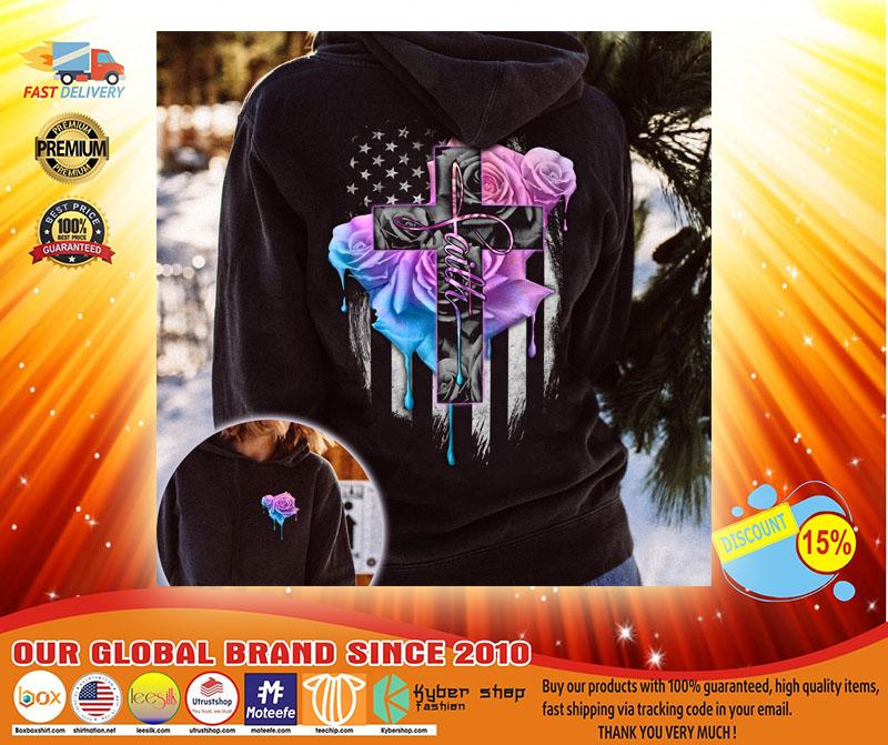 Faith rose skull watercolor 3D hoodie3 1