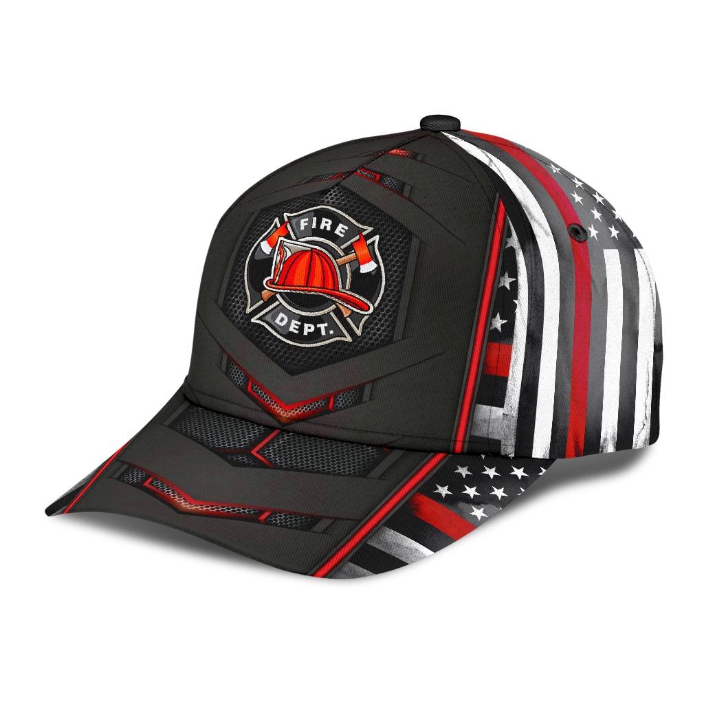 Firefighter dept flag cap2