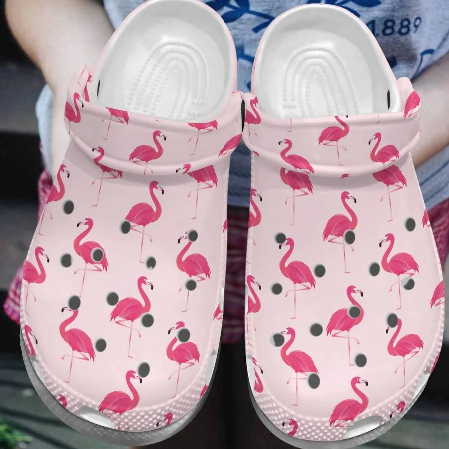 Flamingo crocs crocband clog4