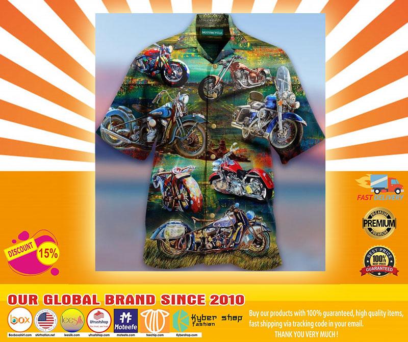 Freedom Is A Full Tank Motorcycles Hawaiian Shirt4