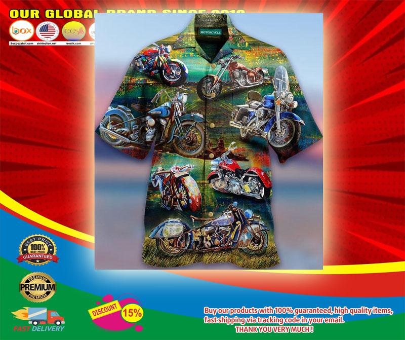Freedom Is A Full Tank Motorcycles Hawaiian Shirt5