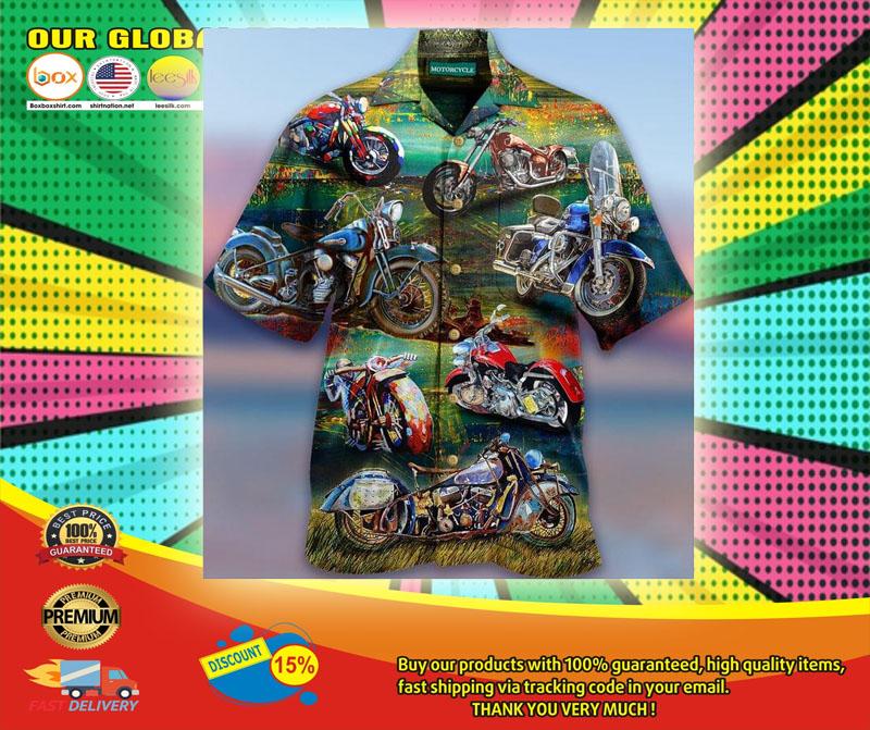 Freedom Is A Full Tank Motorcycles Hawaiian Shirt6