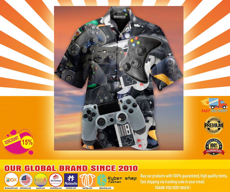 Game Controller Unisex Haiwaiian Shirt4