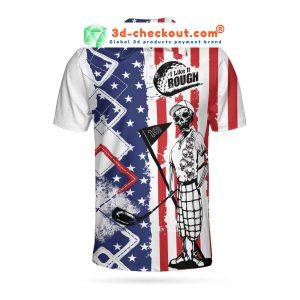 Golf American flag I like it rough polo shirt