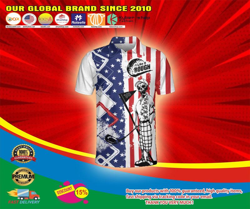 Golf American flag I like it rough polo shirt6