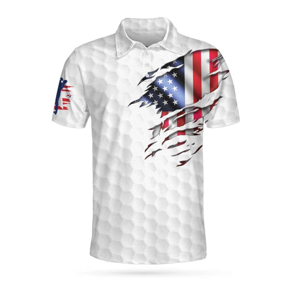 Golf American flag polo shirt4