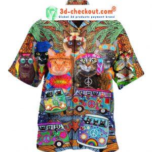 Hippie Cat Short Sleeve Shirt