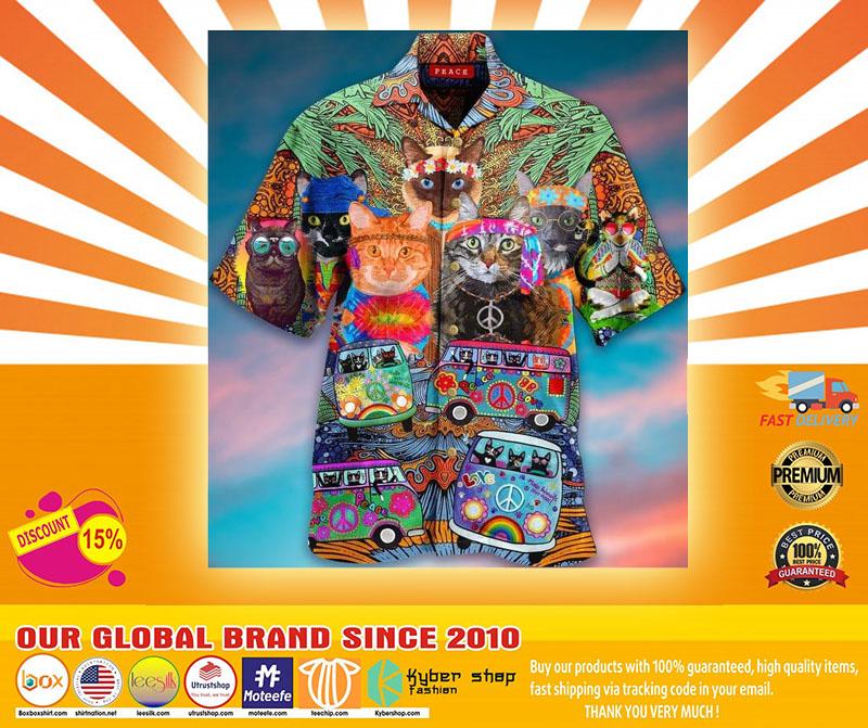 Hippie Cat Short Sleeve Shirt4