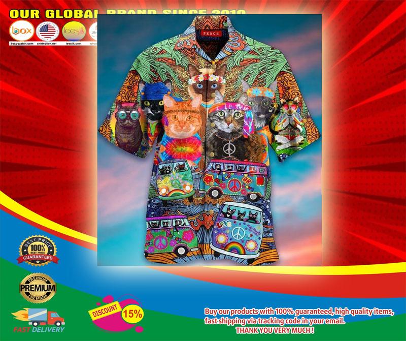 Hippie Cat Short Sleeve Shirt5
