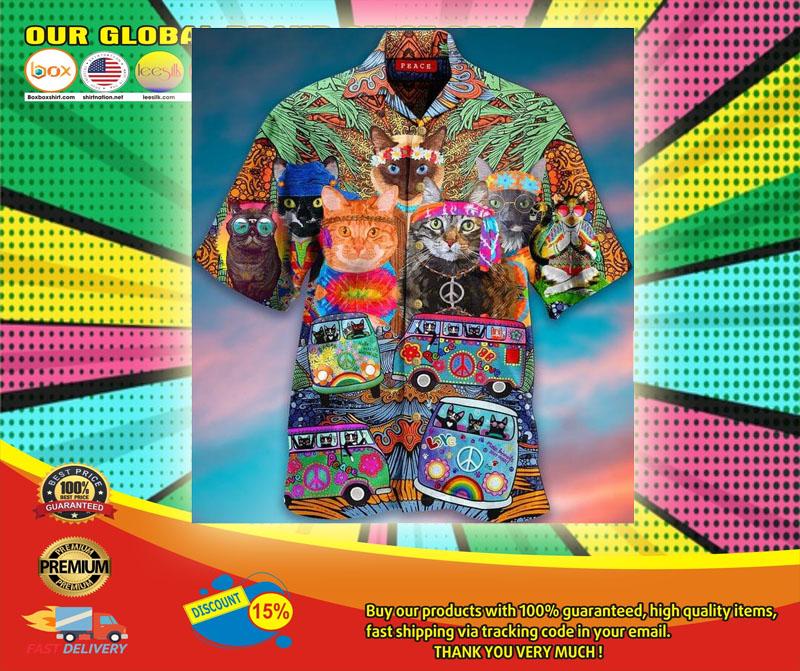 Hippie Cat Short Sleeve Shirt6
