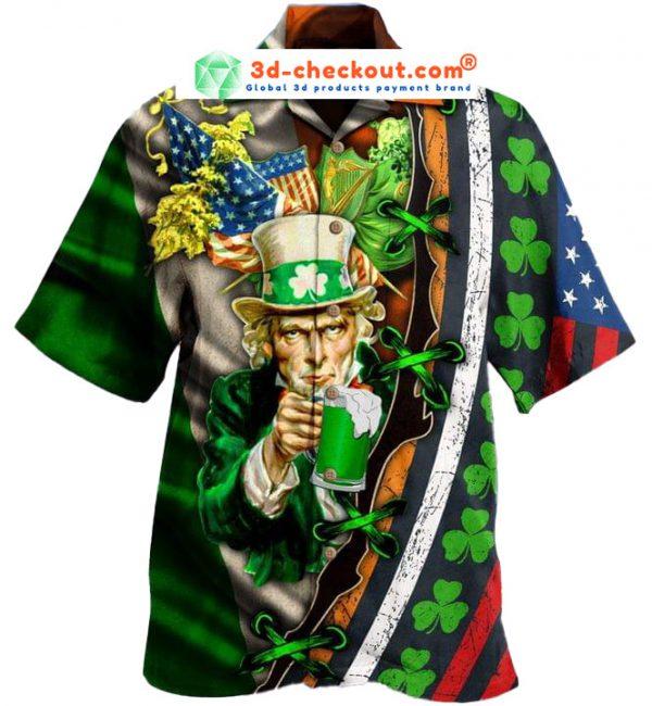 I Want You To Drink Beer Saint Patricks Day Hawaiian Shirt