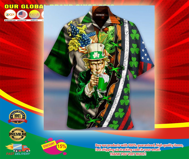 I Want You To Drink Beer Saint Patricks Day Hawaiian Shirt5