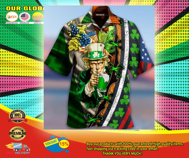 I Want You To Drink Beer Saint Patricks Day Hawaiian Shirt6