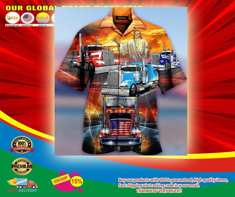 Jesus Blesses Truckers Short Sleeve Shirt5
