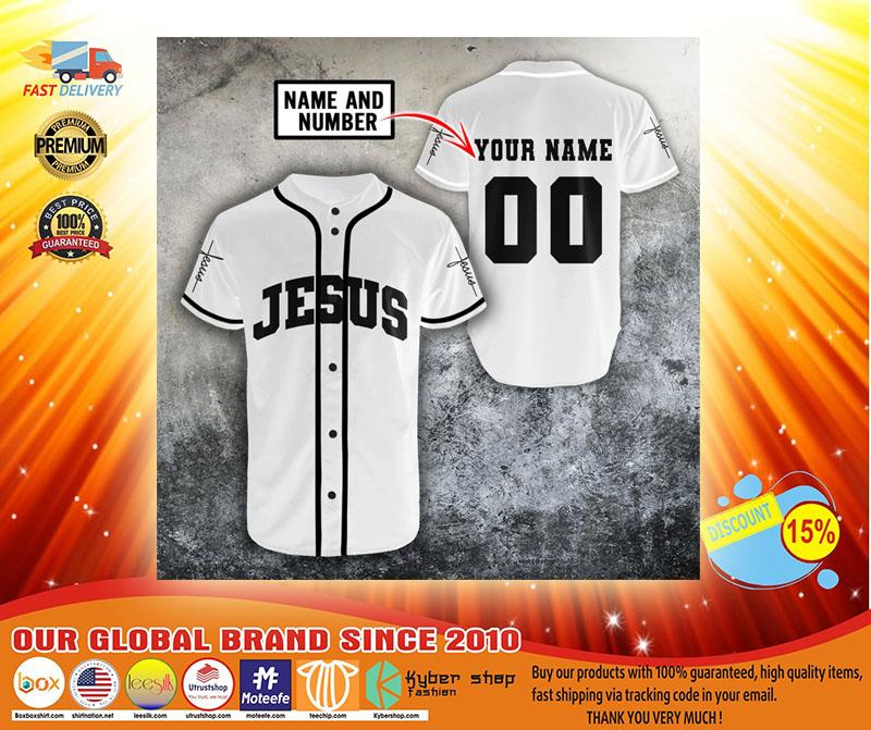 Jesus christian custom name and number baseball jerseyshirt3